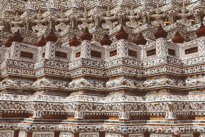 Bangkok wat arun thailand temple tiny details