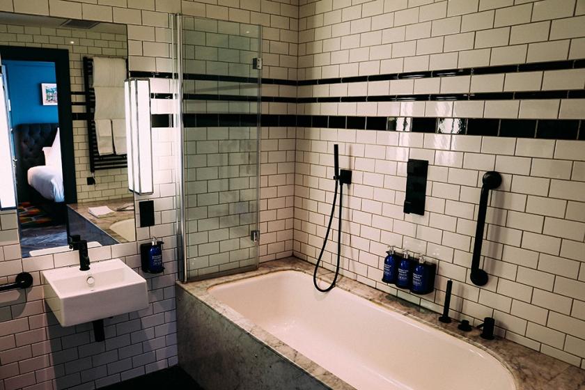 Dublin Ireland The Dean Hotel bathroom