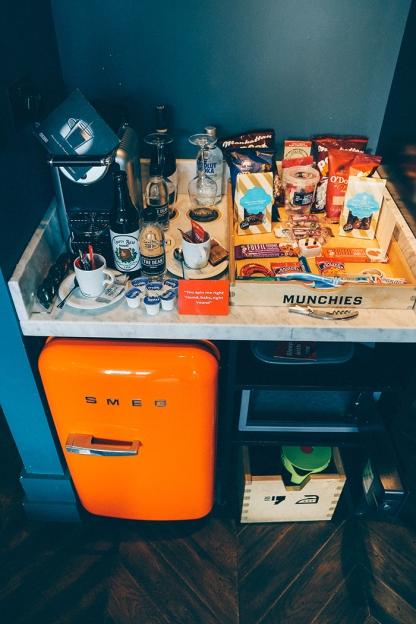 Dublin Ireland The Dean Hotel fridge